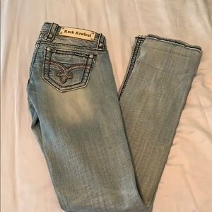 Women's Light wash rock revival jeans